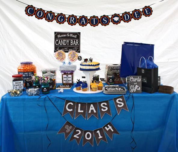 Graduation Candy Bar Table SetUp