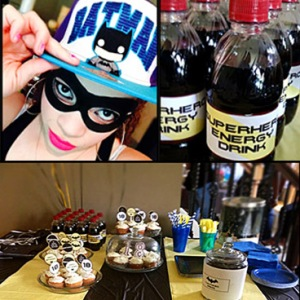 batman theme teen party