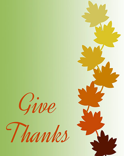JusPrintables 8x10 Give Thanks Fall Freebie