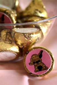 Custom Pink and Gold Hershey Kisses