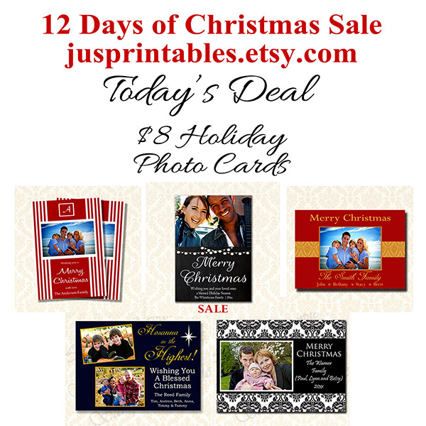 Jusprintable Holiday Photo Card Sale