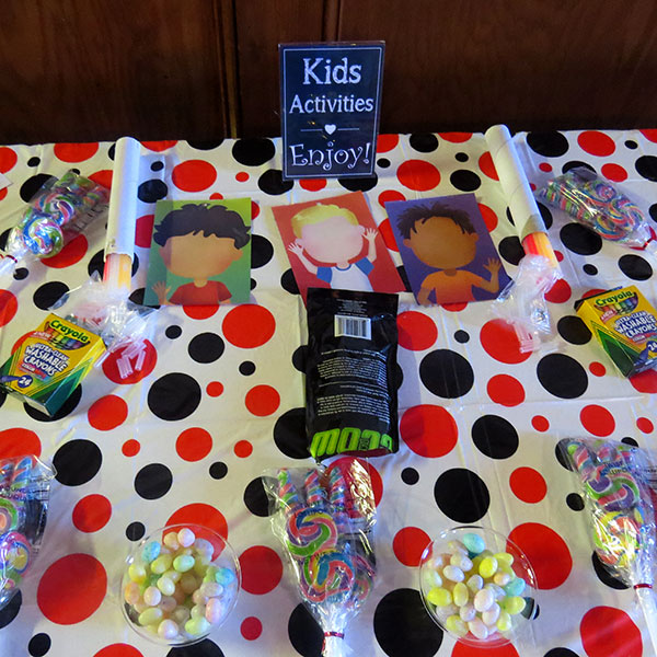 Kids Activity Ideas - Wedding Receptions or Adult Celebrations